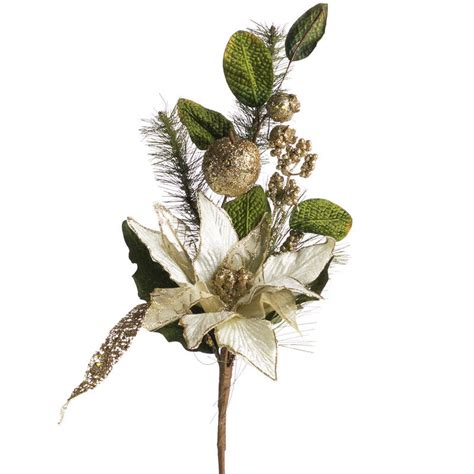 hessian gold poinsettia picks gold sparkling velvet artificial poinsettia and fruit corsage boutonniere supplies
