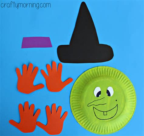 Paper Plates Crafts For Toddlers - paper plate witch craft for crafty morning