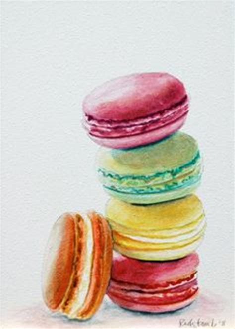 macaroon watercolor on macaroons original paintings and watercolor walls