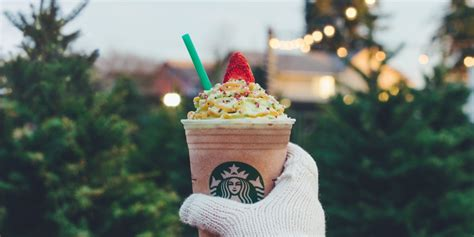 starbucks christmas tree frappuccino review where and
