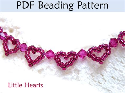 beaded bracelet patterns hearts beaded bracelet pdf beading pattern by
