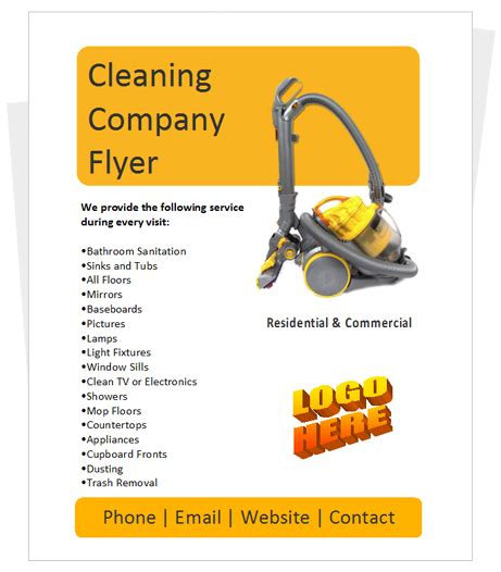 commercial cleaning brochure templates best photos of small business flyers template free small business flyer templates business