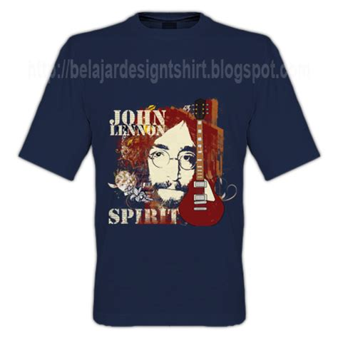 Kaos T Shirt Lennon koleksi psd desain kaos lennon spirit t shirt design