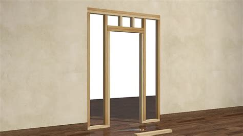 how to frame a door opening door frame framing in a door