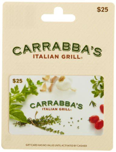 Carrabbas Gift Card - carrabba s italian grill gift card 25 shop giftcards