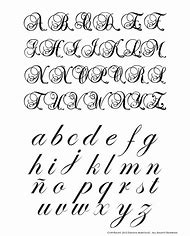 Fancy Cursive Calligraphy Alphabet Letters