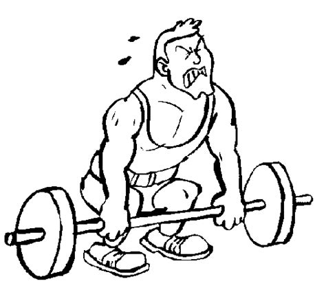weight lifting coloring page
