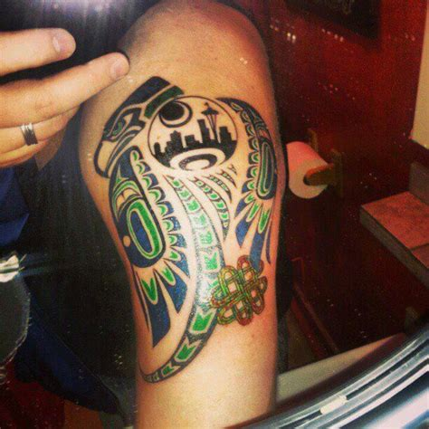 seahawk tribal tattoos seahawks tattoos pictures to pin on