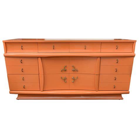 credenza for sale 1950s orange lacquer dresser or credenza usa saturday