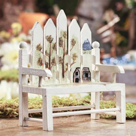 picket fence bench mini picket fence park bench doll accessories doll making supplies craft supplies