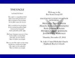 Eagle Scout Program Template by 17 Best Images About Bs Eagle Coh Invites Programs