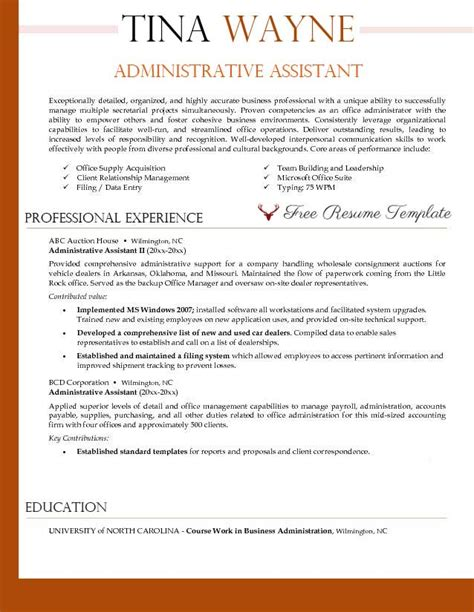 executive assistant resume sample career igniter
