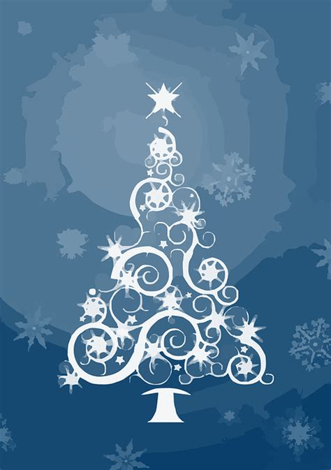 arbol navidad azul vector gratis 193 rbol navidad decoraci 243 n resumen