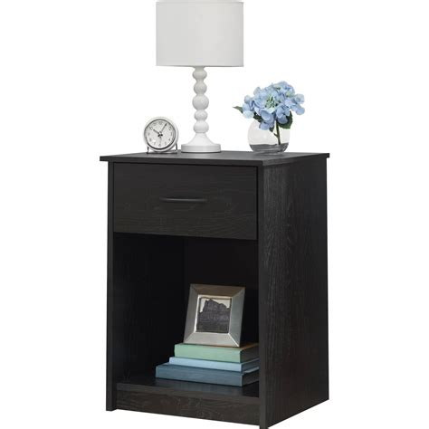 bedroom nightstand nightstand night stand end table 1 drawer furniture