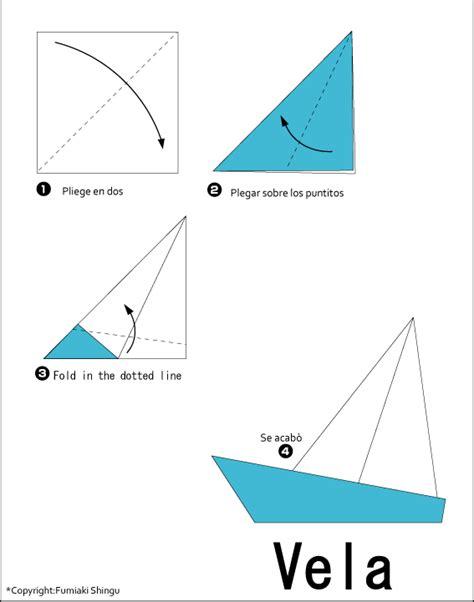 origami yacht