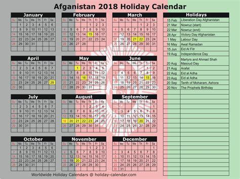 Afghanistan Calend 2018 Afghanistan 2018 2019 Calendar
