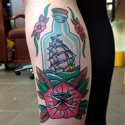 ship in a bottle tattoo ship in a bottle best design ideas