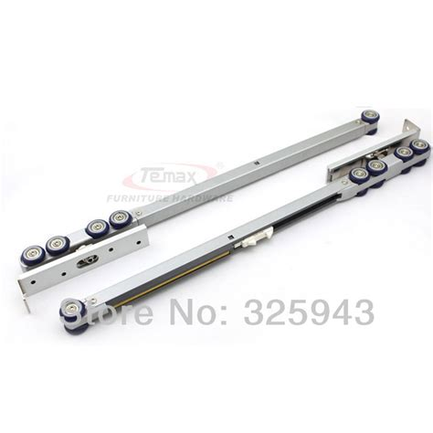 Cabinet Door Slide Hardware Aliexpress Buy Wardrobe Hanger Rail Wheel Sliding Door Gear System Furniture Hardware