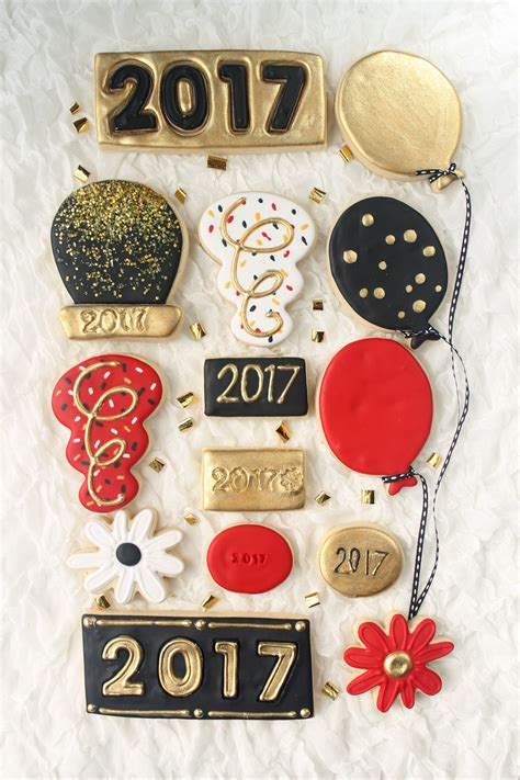 new year cookies 2017 happy new year 2017 decorated cookie collection cookiecrazie