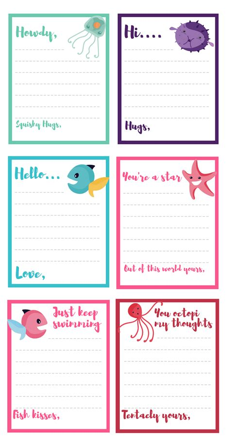 printable note cards pdf free under the sea note card printables inspired by disney