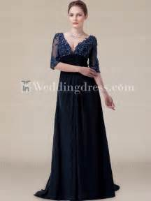 Mother of the bride dresses navy modern chiffon bride mother dress