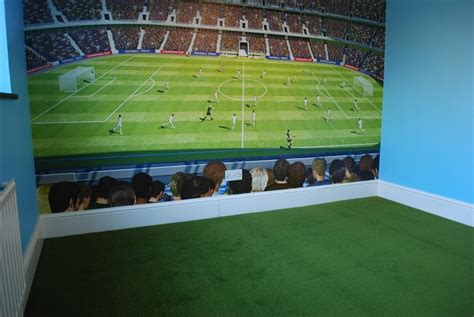 football themed bedrooms grass style carpet