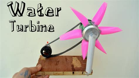 how to make water turbine or hydroelectric power generator