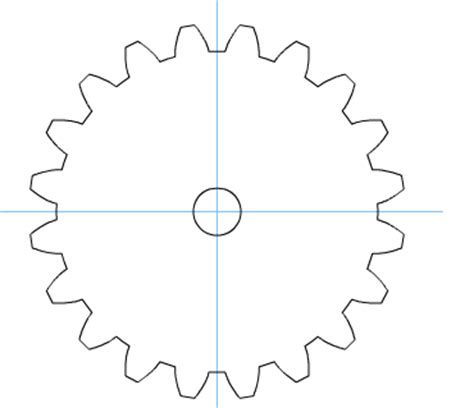 gear template generator best photos of wood gears template gear template