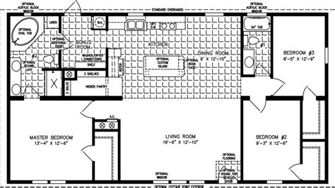 1200 square foot floor plans mobile home floor plans 1200 sq ft 3 bedroom mobile home