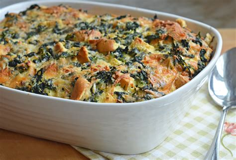 strata recipe spinach and cheese strata recipe dishmaps