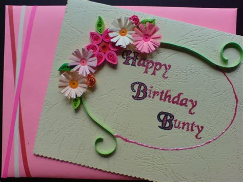 Handmade Birthday Card Designs For Best Friend - chami crafts handmade greeting cards happy birthday