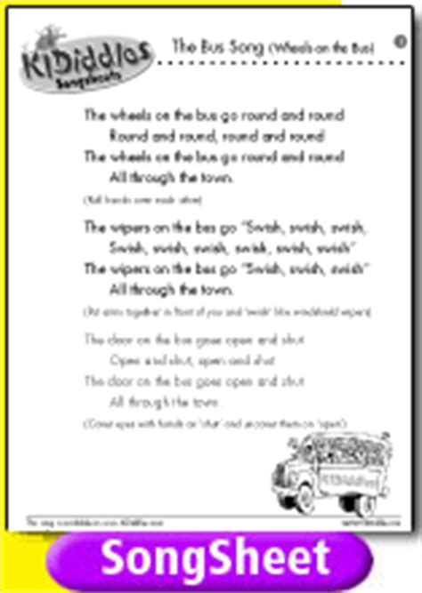 testo wheels the wheels on the song and lyrics from kididdles