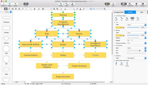 flowchart with word add a flowchart to ms word document conceptdraw helpdesk