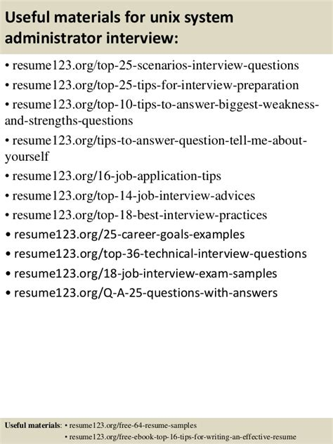 top 8 unix system administrator resume sles