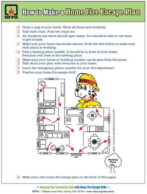 home safety plan free printable how to make a home fire escape plan for