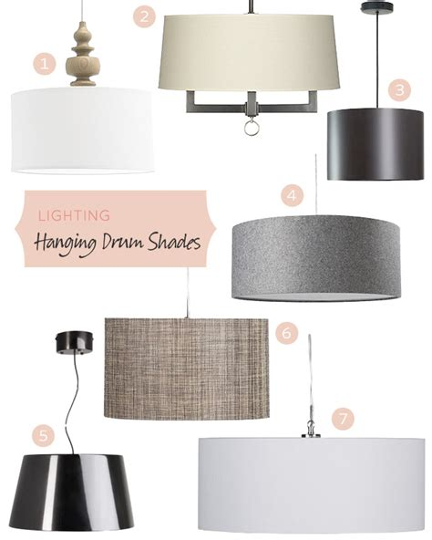Lighting Hanging Drum Shades Making It Lovely | drum pendant lighting dining room beach with none lights
