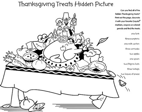 free printable hidden pictures thanksgiving thanksgiving coloring pages