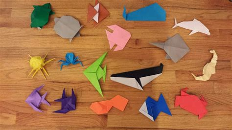 How To Make Origami Sea Animals - chemknits origami sea creatures adventures of a knitter