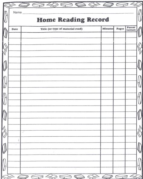 kindergarten reading log template best photos of kindergarten summer reading log