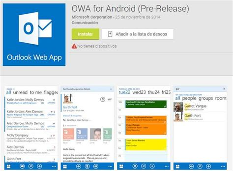 owa for android descargar owa para android cuenta outlook