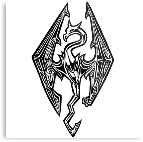 Game Home Decor by Quot Skyrim Logo Dovah Dragon Quot Metal Prints By Youngtrendsette