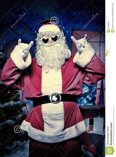 party santa stock image image  disco background claus