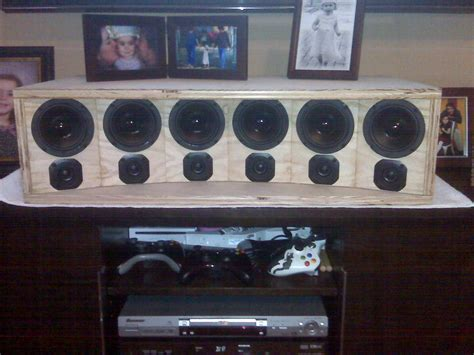 curved sla center channel build avs forum home theater