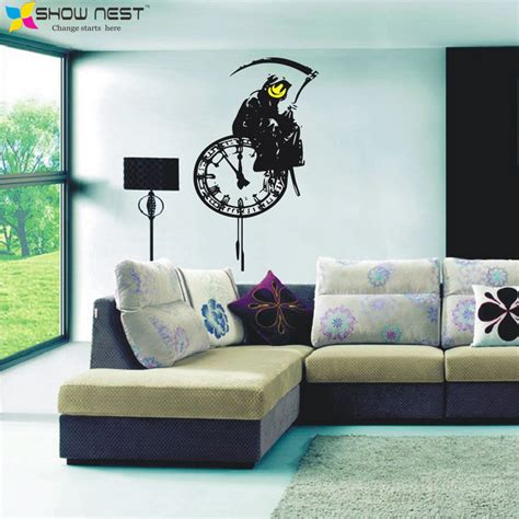 graffiti art home decor banks graffiti grim reaper death vinyl wall decals ghost