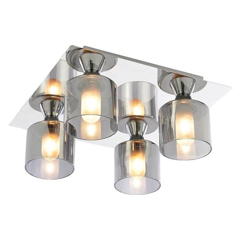 4 ceiling lights tarum bathroom ceiling light 4 light flush chrome from