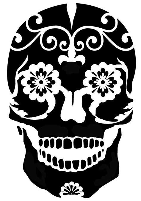 sugar skull svg pinterest stencils skull stencil