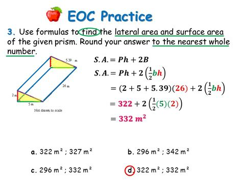 cross sectional area of trapezium eoc practice 1 describe the cross section a cube b