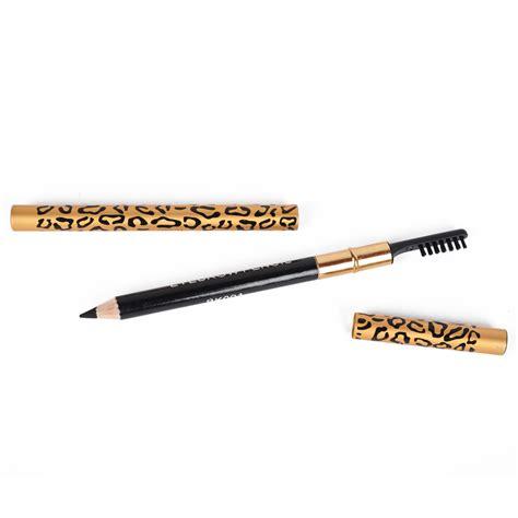 Infinite Eye Brow Pencil Black leopard eyebrow waterproof black brown pencil with brush make up eyeliner