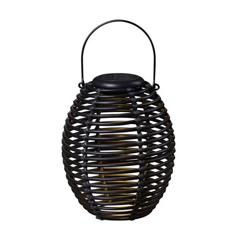 Decorative Led Lantern by Shop Kenroy Home 8 In X 9 In Black Resin Led Light Outdoor
