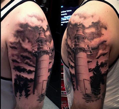 cloud tattoos on arm 100 lighthouse designs for a beacon of ideas